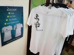 As of January 2017, we have kids, women's and men's VEGAN t-shirts for sale at the BLISS ORGANIC CAFE in Adelaide, South Australia! If you're in the area, head on over for a bite to eat and pick up a GO VEGAN t-shirt! All out shirts are 100% organic cotton, so they are super soft and non-toxic for the gentleness needed for your children's skin. They are also FAIR-TRADE, VEGAN and CARBON-NEUTRAL. We hope you love them! :)