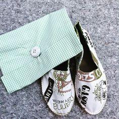 #mulpix Finalement mes espadrilles sont arrivées avec leur pochette en tissu!  www.robertamoretti.it  #espadrilles #espadrillas #RobertaMoretti #artigianato #pairedespadrilles #estate #été #madeinItaly #handmade #madeItalia #TeamEspadrilles