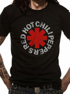 Officially licensed Red Hot Chili Peppers t-shirt design printed on a 100% cotton short sleeved T-shirt.