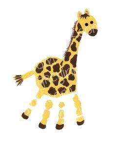Handprint Alphabet Art - Giraffe - Instant Download Animal Crafts For Kids, Animals For Kids, Art For Kids, Hand Art Kids, Giraffe Painting, Giraffe Art, Giraffe Crafts, Footprint Art, Handprint Art