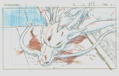 Haku- Spirited Away Sen to Chihiro no Kamikakushi Studio Ghibli Art, Studio Ghibli Movies, Alphonse Mucha, Studio Ghibli Characters, Animation Process, Pencil Test, Key Frame, Hayao Miyazaki, Animation Tutorial