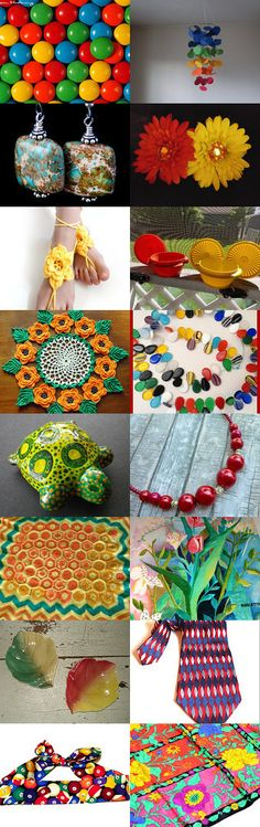 Festive Colors~Let's Party! by Alex Treglazoff on Etsy--Pinned with TreasuryPin.com
