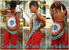 Crochet Tank Top Pattern. PDF. Sizes M-4X. Crochet Summer Top. Crochet Beach Top Pattern