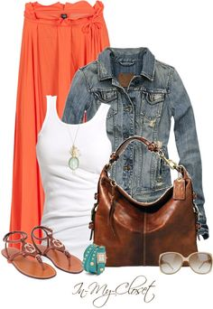 Maxi+white tank+jean jacket! PERFECT!
