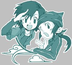 Digimon Frontier - Kouji and Kouichi