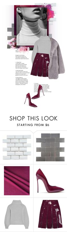 """""""dreaming of plum and grey"""" by qxartz ❤ liked on Polyvore featuring Merola, Polaroid, Casadei, Iris & Ink, Valentino and TIBI"""