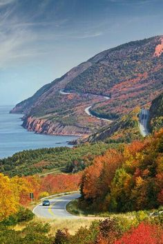 One of the best drives in the world! Cabot Trail, Cape Breton, Nova Scotia One of the best drives in the world! Cabot Trail, Places To Travel, Places To See, Voyager Loin, East Coast Travel, Cape Breton, Roadtrip, Canada Travel, Canada Tourism
