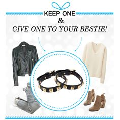 You and a friend could have the happiest of holidays -- win two Valentino Rockstud bracelets, one for you, one for your bff! #keeponegiveone http://polyv.re/keep1give1rockstud
