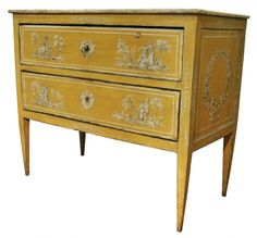 18th C. Louis XVI Painted Commode