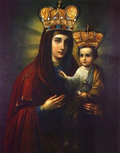 The miraculous icon of Our Lady of Klokočovnik, Slovakia. According to tradition, the icon wept before a crown of people in 1670.