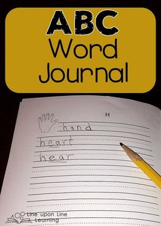 Word Journal for practicing spelling and recording new/favorite words ($)   Line upon Line Learning blog www.RebeccaReid.com