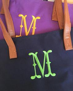 Angel /& Harp Monogram Day Tote Bag Free Name Monogram Custom Embroidered