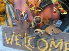 Fall Wreath Welcome Wreath Door Wreath by MnMadeWreathsNThings