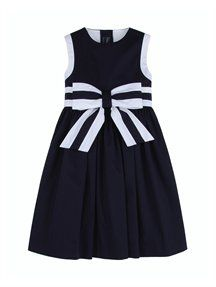 BOW FRONT PARTY DRESS