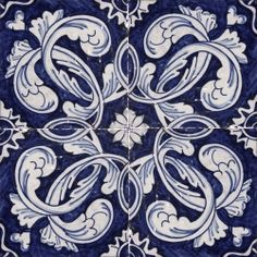 Portuguese traditional painted tiles.... Probably switch the white and blue colors, so not so crazy amount of contrast