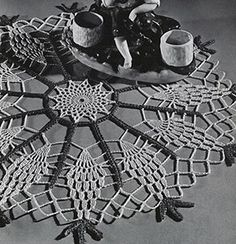 Pineapple Wheel Doily crochet pattern originally published in Pineapple Fan Fair, Spool Cotton Co #266.
