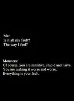 i'm a mess and the monster's in my head agree with me !