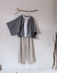 minimalist linen jacket by linenclothingbyanny on Etsy