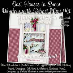 Oast Houses in Snow Window with Pelmet Mini Kit : The Designer Twins ...where creativity encounters quality and value