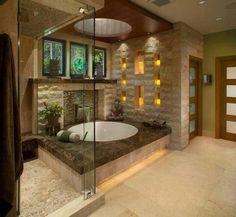 10 Tips for Japanese Bathroom Design, 20 Asian Interior Design Ideas Asian bathroom design is about ultimate relaxation Asian Bathroom, Spa Like Bathroom, Dream Bathrooms, Beautiful Bathrooms, Bathroom Ideas, Japanese Bathroom, Luxury Bathrooms, Romantic Bathrooms, Bathroom Interior