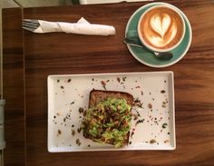 Aussie breakfast: avo toast and flat white