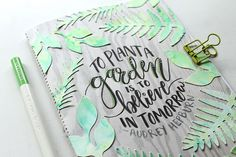 Make a garden journal inspired by @pantonecolor 's color of the year 2017, Greenery, using @tombowusa products and this tutorial by @Punkprojects