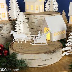 Covered Bridge TeaLightVillage by Christmas Projects, Christmas Home, Xmas, Christmas Ideas, Christmas Printables, Christmas Stuff, White Christmas, Led Tea Lights, Fairy Lights