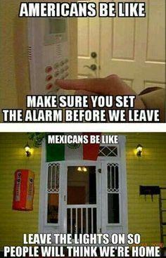 Cual alarma ni que la chingada, las luces prendidas, eso si que ahuyenta
