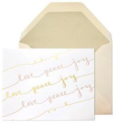 Love Peace Joy Holiday Cards