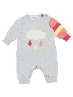 Spring/Summer 2012 'RAINY CLOUD' Cotton playsuit / Bonnie Baby #baby {tiny little outfits!}