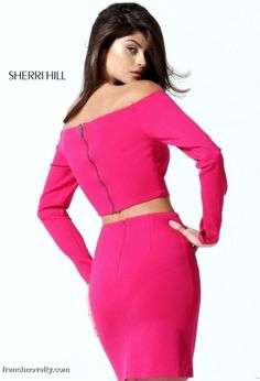 f38d3c8fe56 Sherri Hill 50773 Off the Shoulder 2pc Cocktail Dress