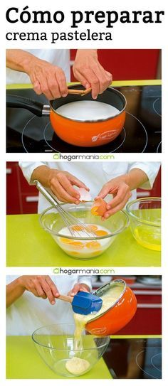 Cómo preparar crema pastelera.