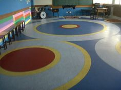Modi School, Meerut (picture 2 of 3). Customised vinyl floorings