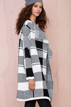 Check On It Sweater Coat - Cardigans | Lena Dunham Is A Nasty Gal | Plaid & Flannels | Coats | Jackets + Coats | Tops