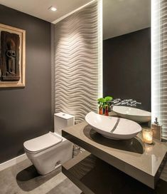 65 Most Popular Small Bathroom Remodel Ideas on a Budget in 2018 – 65 Most Popular Small Bathroom Remodel Ideas on a Budget in 2018 – - Best Dekoration Badezimmer Modern Bathroom Design, Bathroom Interior Design, Bathroom Designs, Interior Ideas, Toilette Design, Modern Powder Rooms, Small Powder Rooms, Powder Room Design, Design Room
