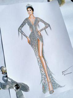 Dress Design Drawing, Dress Design Sketches, Fashion Design Sketchbook, Fashion Design Drawings, Fashion Sketches, Dress Illustration, Fashion Illustration Dresses, Fashion Design Template, Fashion Drawing Dresses