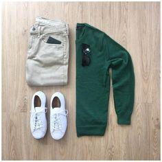 "MrJunho3™ on Instagram: ""Casual flow Wednesday 😎 Shirt: @jcrewmens Jeans: @flagandanthem - Brunswick Overdye Slim Shoes: @converse Wallet: @goldblackofficial…"" #green #pullover #outfit #men #greenpulloveroutfitmen 4,874 Beğenme, 40 Yorum - Instagram'da Junho (@mrjunho3): ""Casual flow Wednesday Shirt: @jcrewmens Jeans: @flagandanthem - Brunswick Overdye Slim Shoes:…"""