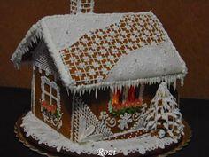 Rozi Erdélyi konyhája: Mézeskalács házikó készítése, recept és sablon Xmas, Food, Gingerbread Houses, Erika, Advent, Christmas, Navidad, Weihnachten, Meals