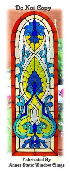 Stained glass examples on pinterest for Decorative window film stained glass victorian