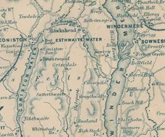 Map of the lakes