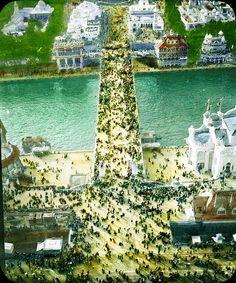 Paris Exposition: Pont d'lena, aerial view, Paris, France, 1900