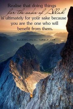 You benefit