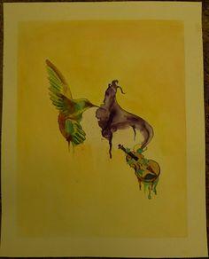 RESERVED Painting for Christina of kylernangel by ArtByDonnaRose, $60.00