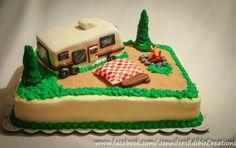 Camper Retirement Cake - by Jennifer's Edible Creations @ CakesDecor.com - cake decorating website