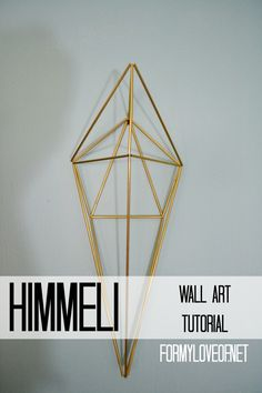 Pin It! Himmeli Wall Art Tutorial by ForMyLoveOf
