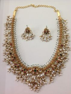 Andhra - Traditional Gutta Pusala pearl necklace