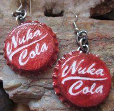 Fallout Nukacola earrings