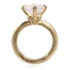 Rokokko, ring med rosakvarts, ringe fra Dirks Design | Dirks Design