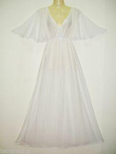Womens Long Sun Dress Casual Peasant Maternity Maxi Kimono White Cotton s M L XL   eBay