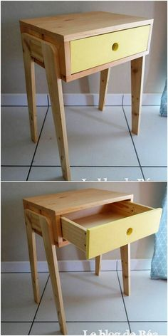 This is a majestic side table design of the wood pallet which would make you fall in love with it. The whole custom designing of the pallet side table with the drawer access is being featured into the brilliant work too. This will look so exceptional piece in house furniture.